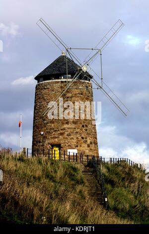 Windmill in St Monans, Fife, Scotland - Stock Photo