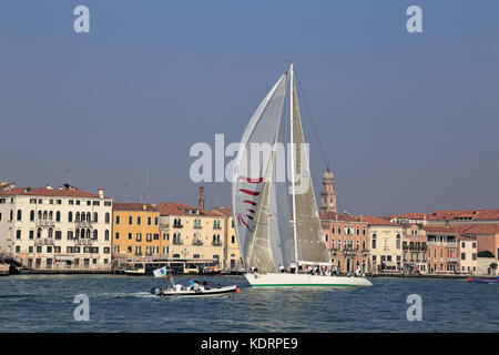 Sailing yacht il Moro di Venezia II at the Venice Hospitality Challenge 2017 - Stock Photo