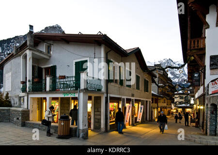 Courmayeur, Aosta Valley, Italy - Stock Photo