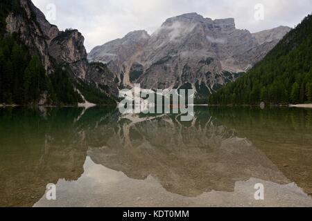 Lago Di Braies - Stock Photo