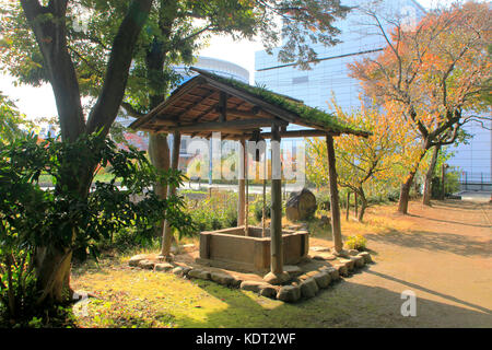 A Water Well of the Old Farm House in Kunitachi city Western Tokyo Japan - Stock Photo