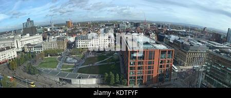 Manchester Piccadilly City Panorama, England, UK - Stock Photo