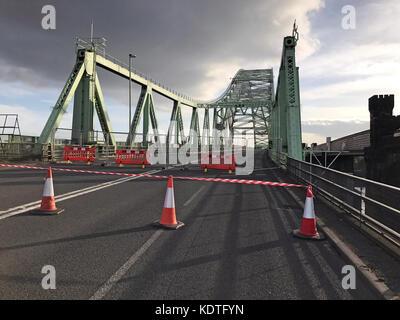 Silver Jubilee Bridge, 'Runcorn-Widnes Bridge' or Runcorn Bridge - Stock Photo