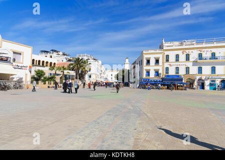 Essaouira, Morocco - December 31, 2016: View of Moulay Hassan Square in medina - Stock Photo