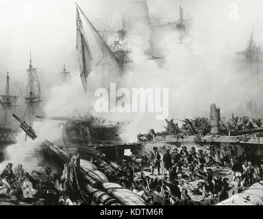 French Revolutionary Wars (1792-1802). Battle of Abukir (March 8,1801). Second battle of the French campaign in - Stock Photo