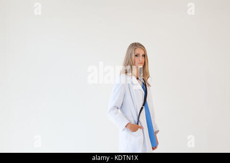 doctor with stethoscope in hospital treatment - Stock Photo