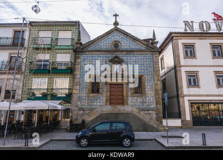 Chapel of Our Lady of Mercy (Capela de Nossa Senhora da Piedade) on Diogo Leite Avenue in Vila Nova de Gaia city - Stock Photo