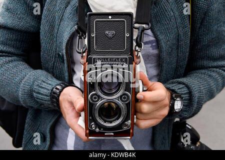 Rolleiflex camera, Paris - France - Stock Photo
