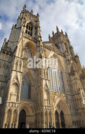 exterior views of york minster in the city of york england - Stock Photo