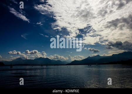Chiemsee Lake, in Bavaria, Germany - Stock Photo