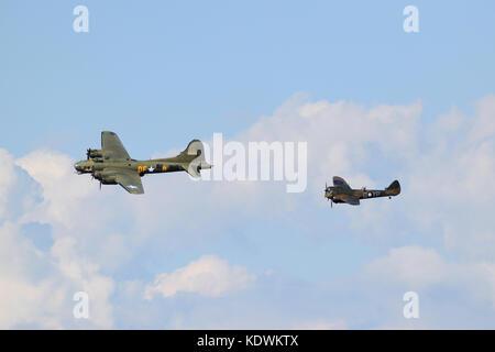Sally B and Bristol Blenheim MK1 - Stock Photo