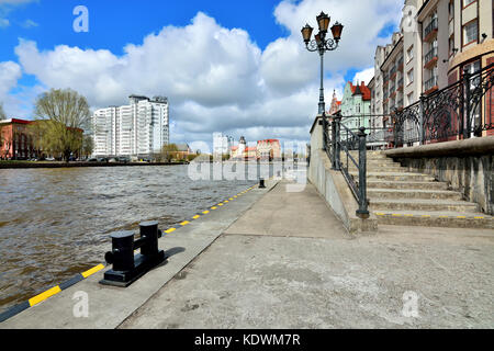 KALININGRAD, RUSSIA - 22 APRIL 2017: The fishing village - cultural and ethnographic complex, the tourist attraction - Stock Photo