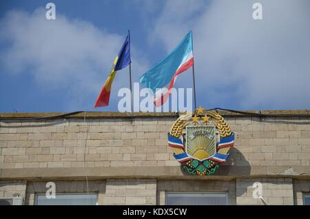 Parliament in Comrat, the capital of Gagauzia, Republic of Moldova - Stock Photo