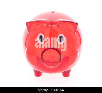 close up of piggy bank on white background - Stock Photo