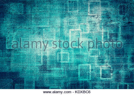 Grunge Abstract Bokeh Dark Turquoise Color Binary Numbers Concept Copy Space Background Illustration