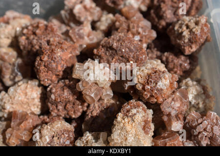 Shooting of collection natural rock as a set of Aragonite mineral gem stones - Stock Photo