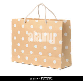 Paper shopping bag isolated on white - Stock Photo