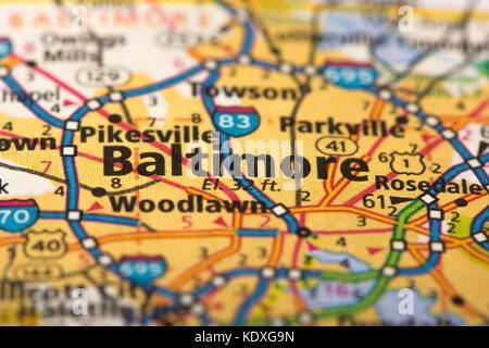 Political Map Of Maryland Stock Photo Royalty Free Image - Us map baltimore maryland