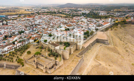 Bastian Fort, City Walls, Castle of Elvas, Portugal - Stock Photo