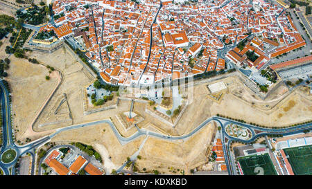 Bastian Fort, City Walls, Castle of Elvas, Portugal - Stock Photo