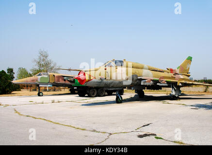 Old abandoned Cold War era jet fighter - Stock Photo