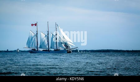 Tall ships event in Canada July 2017 to celebrate Canada's 150th birthday - Stock Photo