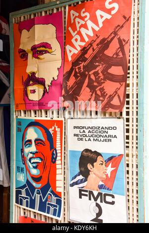 Propaganda posters Havana - Stock Photo
