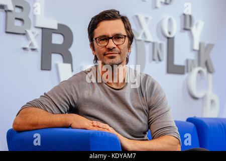 Author Nicol Ljubic at the Frankfurt Book Fair in October 2017. | usage worldwide - Stock Photo