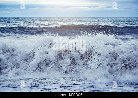 Sunset sea view. - Stock Photo