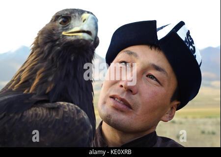 Eagle hunter ( Kyrgyzstan) - Stock Photo