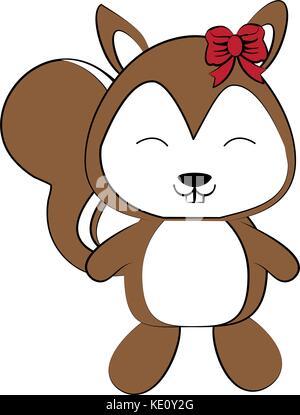 cute animal cartoon icon image - Stock Photo