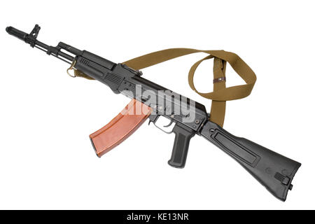 Russian assault rifle AK-74 (Kalashnikov). 5,45 mm. First saw service with Soviet forces engaged in the Afghanistan - Stock Photo