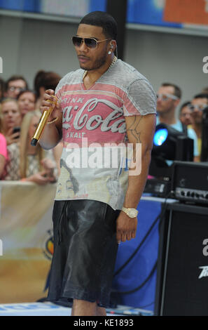 NEW YORK, NY - SEPTEMBER 02: Nelly performs on NBC's 'Today' Labor Day Concert at the NBC's TODAY Show on September - Stock Photo