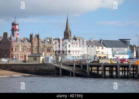 Stornoway Town Hall, Isle of Lewis, Western Isles, Outer Hebrides, Scotland, United Kingdom - Stock Photo