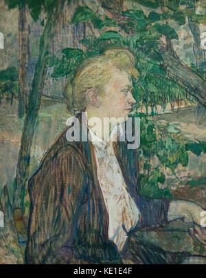Henri de Toulouse-Lautrec - Woman seated in a Garden (1891) - Stock Photo