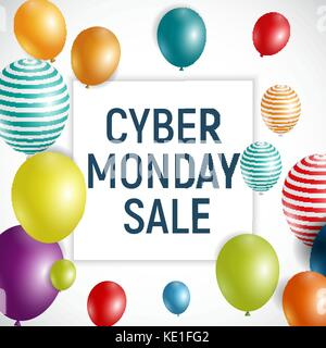Cyber Monday Background Sale Concept. Vector Illustration - Stock Photo