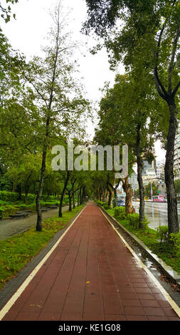 Bicycle Area in Daan Park Taipei City, Taiwan - Stock Photo