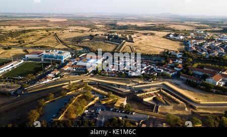 View of Forte de Santa Luzia, Elvas, Portugal - Stock Photo