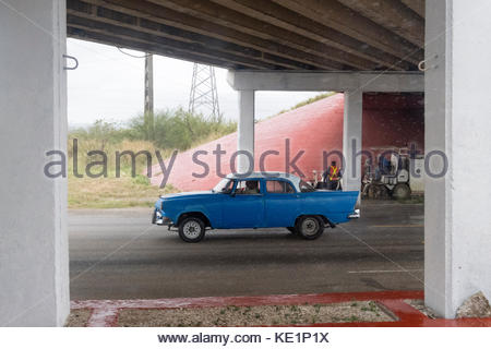 Car Window Repair Orleans >> Driving a car under the bridge in heavy rain. Road, traffic, lights Stock Photo: 137573746 - Alamy