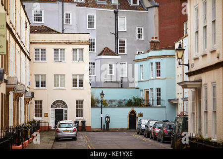 Town houses on Orchard Street  Bristol city centre - Stock Photo