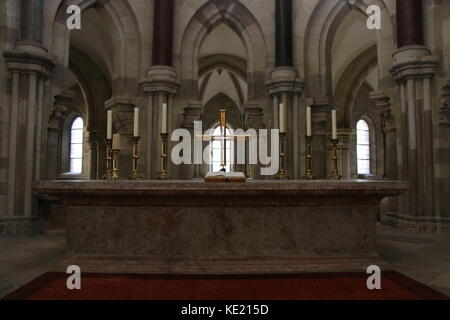 MAGDEBURG, GERMANY - OCTOBER 17, 2017: The altar in the cathedral of Magdeburg. - Stock Photo