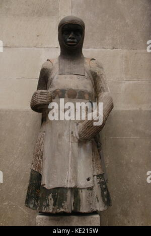 MAGDEBURG, GERMANY - OCTOBER 17, 2017: Saint Maurice in the Cathedral of Magdeburg. The sandstone sculpture was - Stock Photo