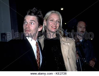 Ethan Hawke & Uma Thurman 'Hamlet' premiere Tribeca Screening Room, NYC May 1, 2000 © RTMSMITH/MediaPunch - Stock Photo