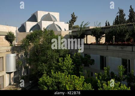 Beit Shmuel and Mercaz Shimshon headquarters of the World Union for Progressive Judaism designed by architect Moshe - Stock Photo