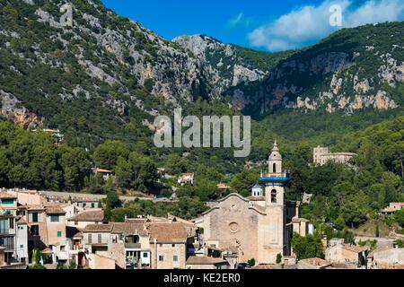 Valldemossa village, Mallorca, Balearic Isles, Spain - Stock Photo
