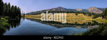 August 22, 2017 - Trout Lake located in Yellowstone National Park - Stock Photo
