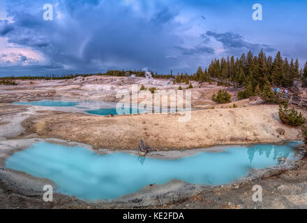 August 22, 2017 - Norris Geyser Basin located in Yellowstone National Park - Stock Photo