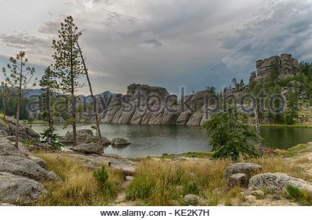 Sylvan Lake in South Dakota's Custer State Park.  Near Mount Rushmore National Memorial - Stock Photo