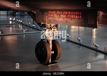Lockheed SR-71 Blackbird aircraft on display at the Udvar-Hazy Center, January 04, 2017 - Stock Photo