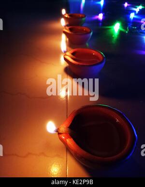 Diwali Festival Flame light - Stock Photo
